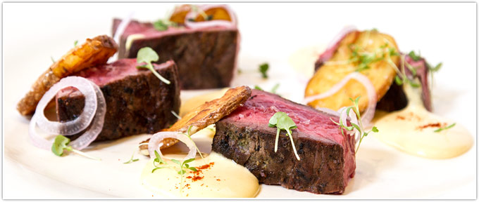Bavette With Smoked Garlic Béarnaise & Pickled Shallots