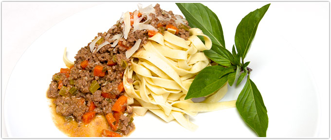 Beef Bolognese With Pancetta
