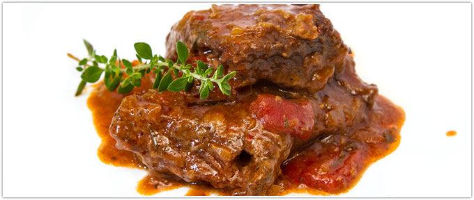 Beef Short Ribs With Stewed Tomatoes