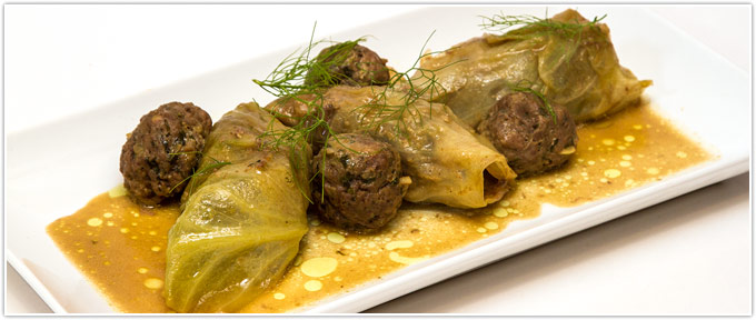 Beef Stuffed Cabbage Rolls In Curry-Coconut Broth