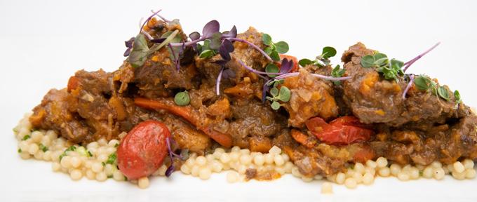 Piedmontese Com Beef Tagine Over Pearl Couscous Recipe