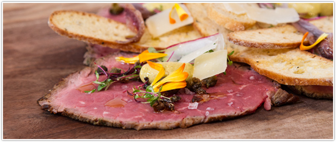 Beef Tenderloin Carpaccio With Capers, Anchovies & Mustard Aioli