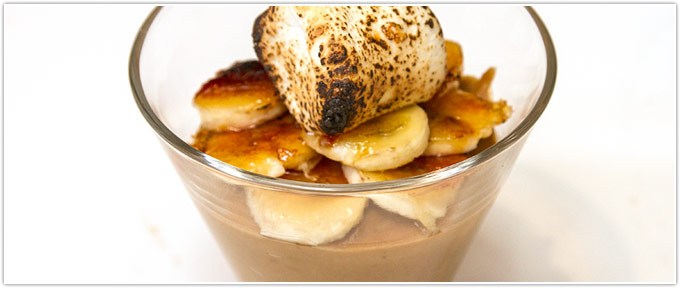 Butterscotch Pudding With Bananas & Toasted Marshmallow