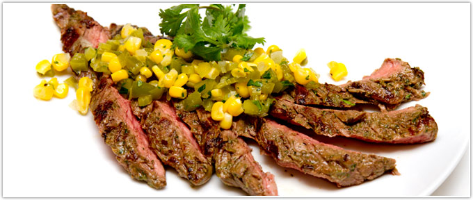 Cilantro-Scented Skirt Steak