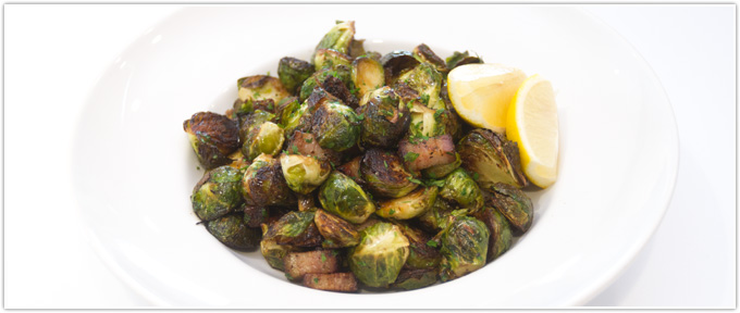 Crispy Bacon & Mustard Brussels Sprouts