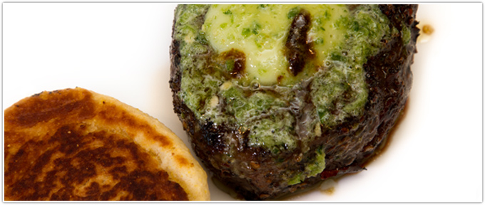 Filet Mignon with Jalapeno Butter