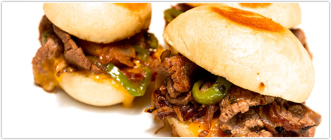 Flank Steak Philly Sliders