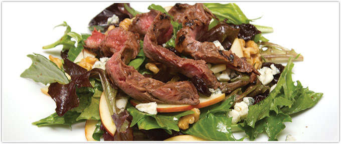 Fruit & Walnut Steak Salad