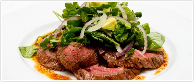 Grilled Thai Skirt Steak With Toasted Chili Oil