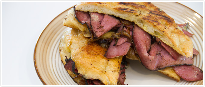 Hot Pastrami Panini With Tomato Chutney