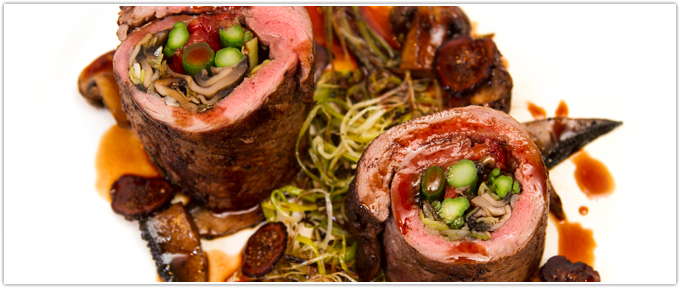 Involtini di Manzo con Marsala e Funghi (Roulade Of Beef With Mushrooms & Marsala)
