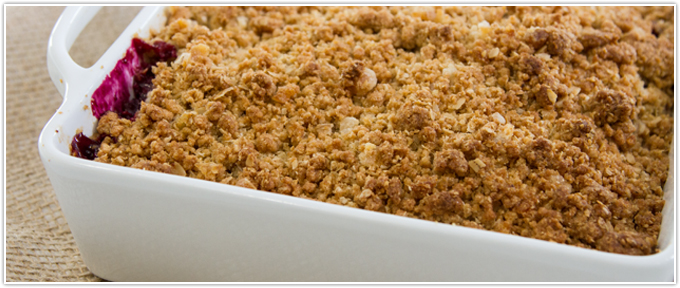 Mixed Berry Crisp With Candied Ginger