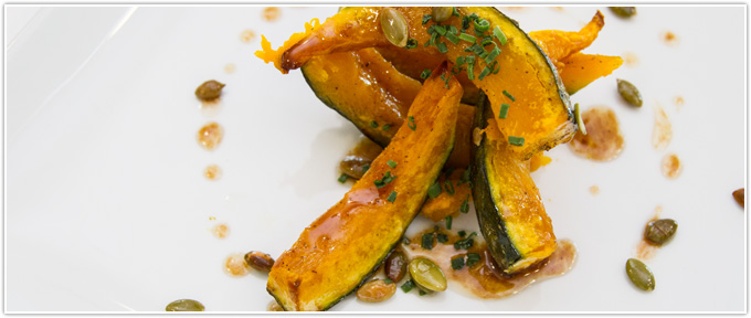 Roasted Red Kuri Squash With Honey & Brown Butter