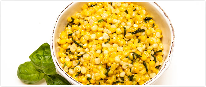 Skillet Corn With Basil