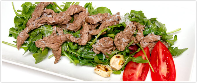Sliced Beef With Arugula