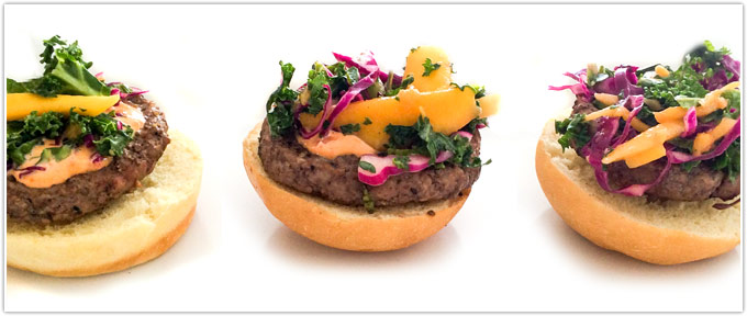 Sliders With Mango & Kale Slaw