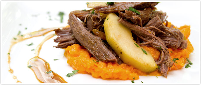 Sweet & Spicy Braised Brisket With Apples & Ginger