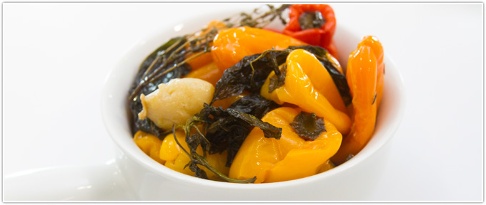 Sweet Pepper Confit With Fresh Herbs