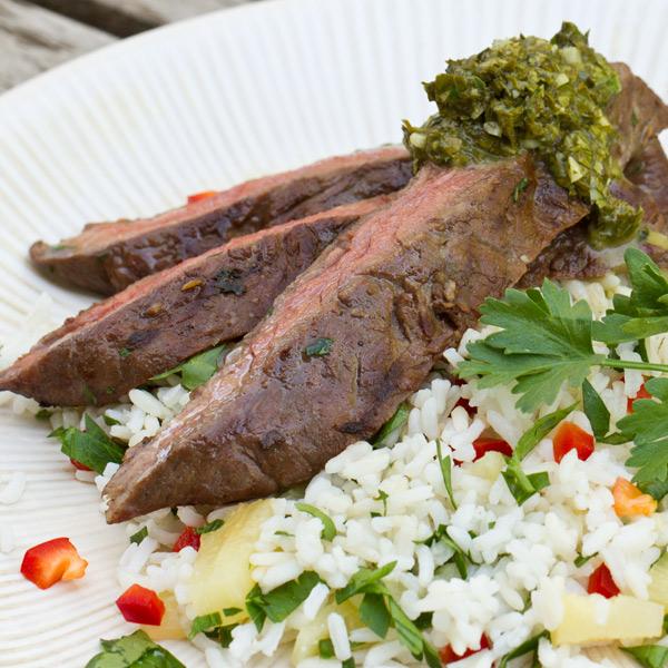 Piedmontese.com | Herb-Marinated Skirt Steak With Gremolata Recipe